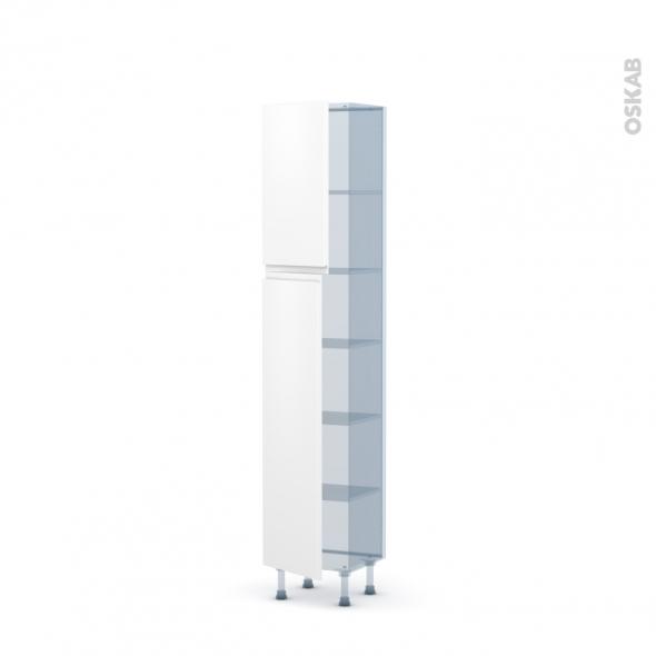 IPOMA Blanc mat - Kit Rénovation 18 - Armoire étagère N°1926   - Prof.37  2 portes - L40xH195xP37,5
