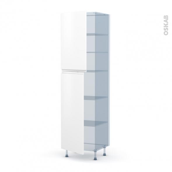 IPOMA Blanc mat - Kit Rénovation 18 - Armoire étagère N°2427  - 2 portes - L60xH217xP60