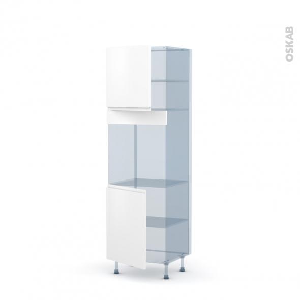 IPOMA Blanc mat - Kit Rénovation 18 - Colonne Four N°1621  - 2 portes - L60xH195xP60