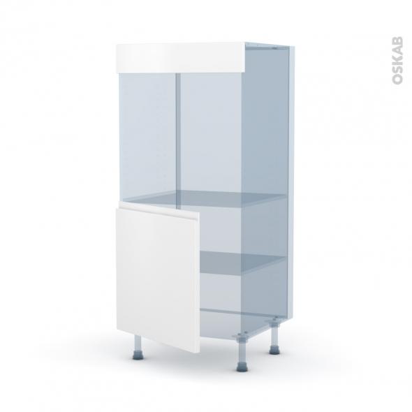 IPOMA Blanc mat - Kit Rénovation 18 - Colonne Four N°16  - 1 porte - L60xH125xP60