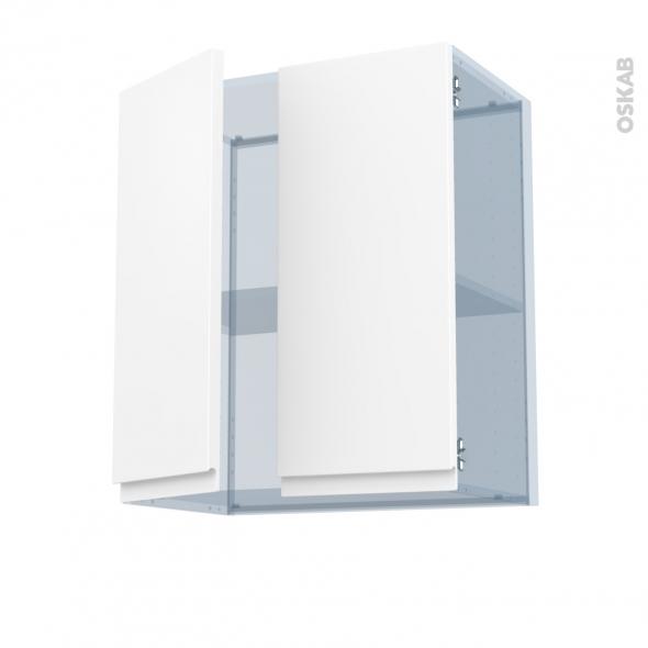 IPOMA Blanc mat - Kit Rénovation 18 - Meuble haut ouvrant H70 - 2 portes - L60xH70xP37,5