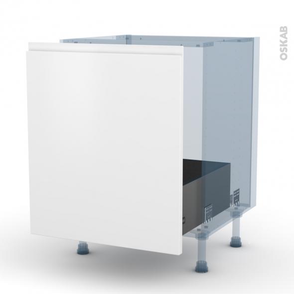 IPOMA Blanc mat - Kit Rénovation 18 - Meuble sous-évier  - 1 porte coulissante - L60xH70xP60