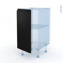 Ipoma Noir mat - Kit Rénovation 18 - Meuble bas cuisine  - 1 porte - L40xH70xP60
