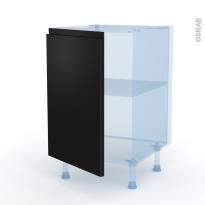 Ipoma Noir mat - Kit Rénovation 18 - Meuble sous-évier  - 1 porte - L50xH70xP60