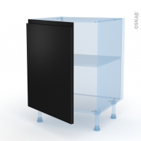 Ipoma Noir mat - Kit Rénovation 18 - Meuble sous-évier  - 1 porte - L60xH70xP60