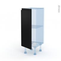 Ipoma Noir mat - Kit Rénovation 18 - Meuble bas prof.37  - 1 porte - L30xH70xP37,5