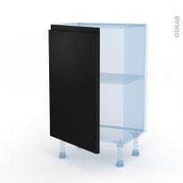 Ipoma Noir mat - Kit Rénovation 18 - Meuble bas prof.37  - 1 porte - L50xH70xP37,5