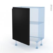 Ipoma Noir mat - Kit Rénovation 18 - Meuble bas prof.37  - 1 porte - L60xH70xP37,5
