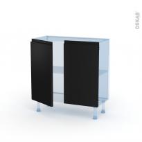 Ipoma Noir mat - Kit Rénovation 18 - Meuble bas prof.37  - 2 portes - L80xH70xP37,5