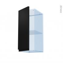 Ipoma Noir mat - Kit Rénovation 18 - Meuble haut ouvrant H70  - 1 porte - L30xH70xP37,5
