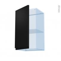 Ipoma Noir mat - Kit Rénovation 18 - Meuble haut ouvrant H70  - 1 porte - L40xH70xP37,5