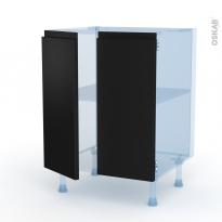 Ipoma Noir mat - Kit Rénovation 18 - Meuble bas cuisine - 2 portes - L60xH70xP60