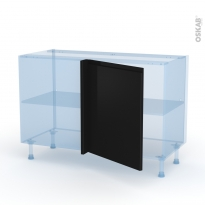Ipoma Noir mat - Kit Rénovation 18 - Meuble angle bas - 1 porte N°21 L60 - L120xH70xP60