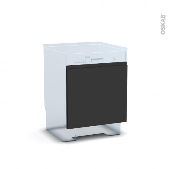 Ipoma Noir mat - Rénovation 18 - Porte N°16 - Lave vaisselle intégrable - L60xH57