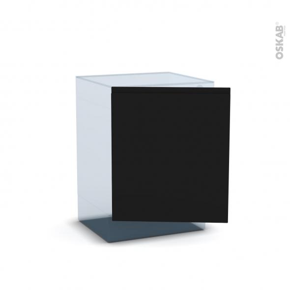 Ipoma Noir mat - Rénovation 18 - Porte N°21 - Lave linge - L60xH70