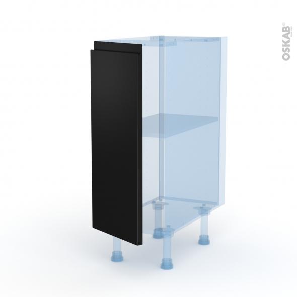 Ipoma Noir mat - Kit Rénovation 18 - Meuble bas cuisine  - 1 porte - L30xH70xP60