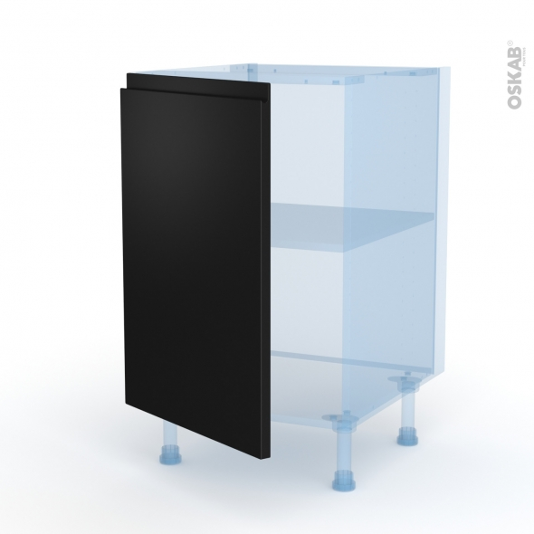 Ipoma Noir mat - Kit Rénovation 18 - Meuble bas cuisine  - 1 porte - L50xH70xP60