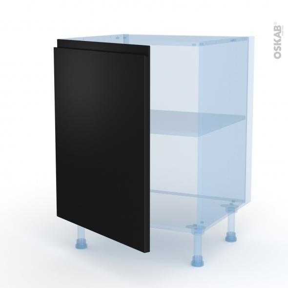 Ipoma Noir mat - Kit Rénovation 18 - Meuble bas cuisine  - 1 porte - L60xH70xP60