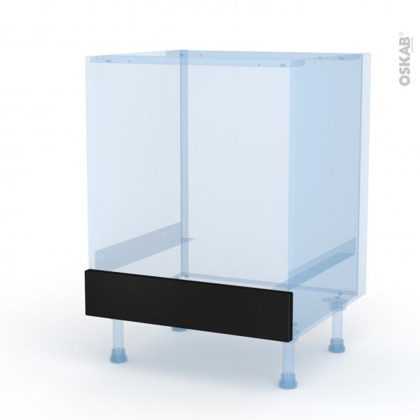 Ipoma Noir mat - Kit Rénovation 18 - Meuble bas four  - bandeau bas - L60xH70xP60