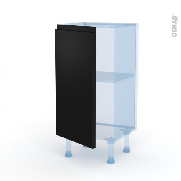 Ipoma Noir mat - Kit Rénovation 18 - Meuble bas prof.37  - 1 porte - L40xH70xP37,5