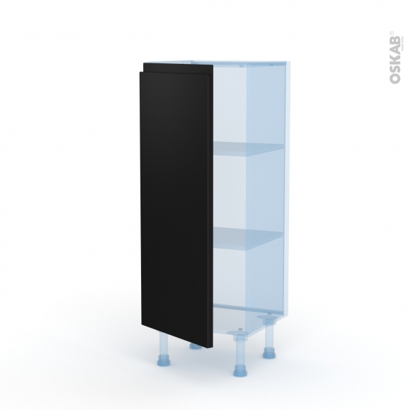 Ipoma Noir mat - Kit Rénovation 18 - Meuble bas prof.37  - 1 porte - L40xH92xP37,5