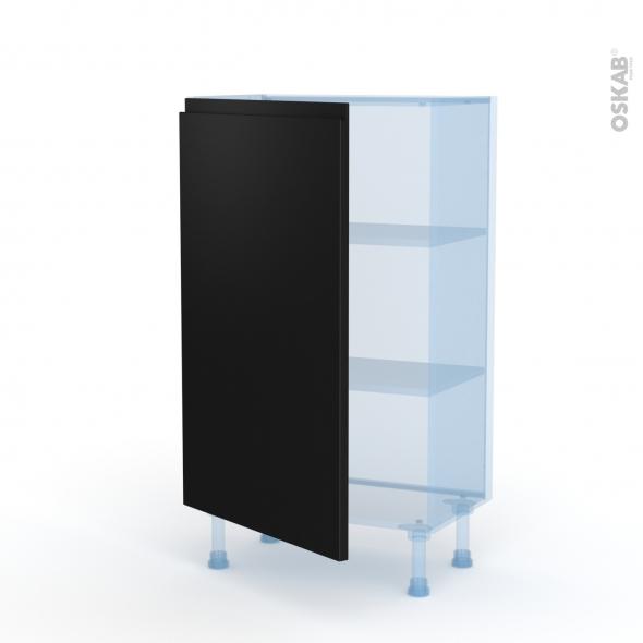Ipoma Noir mat - Kit Rénovation 18 - Meuble bas prof.37  - 1 porte - L60xH92xP37,5