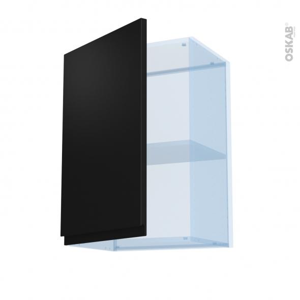 Ipoma Noir mat - Kit Rénovation 18 - Meuble haut ouvrant H70  - 1 porte - L50xH70xP37,5