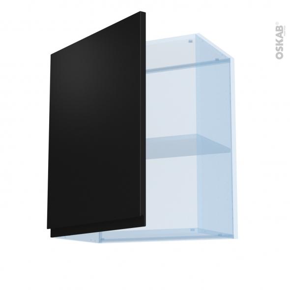 Ipoma Noir mat - Kit Rénovation 18 - Meuble haut ouvrant H70  - 1 porte - L60xH70xP37,5