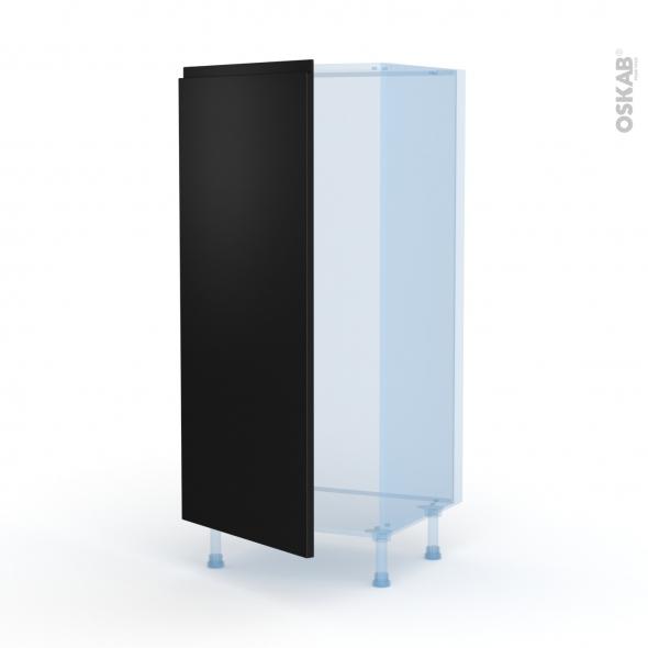 Ipoma Noir mat - Kit Rénovation 18 - Armoire frigo N°27  - 1 porte - L60xH125xP60