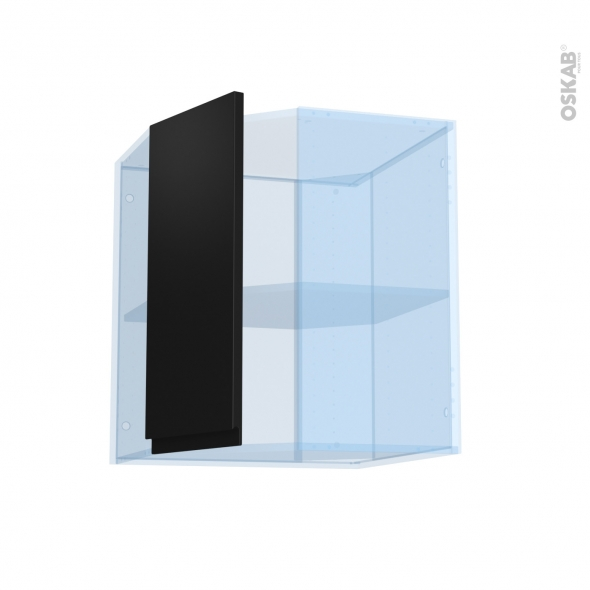 Ipoma Noir mat - Kit Rénovation 18 - Meuble angle haut - 1 porte N°77 L32 - L60xH70xP37,5