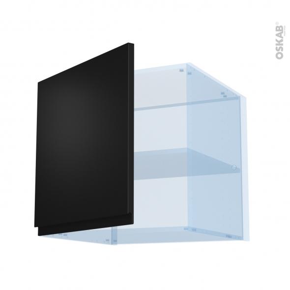 Ipoma Noir mat - Kit Rénovation 18 - Meuble haut ouvrant H57 - 1 porte - L60xH57xP60