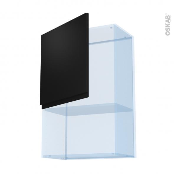 Ipoma Noir mat - Kit Rénovation 18 - Meuble haut MO niche 36/38  - 1 porte - L60xH92xP37,5