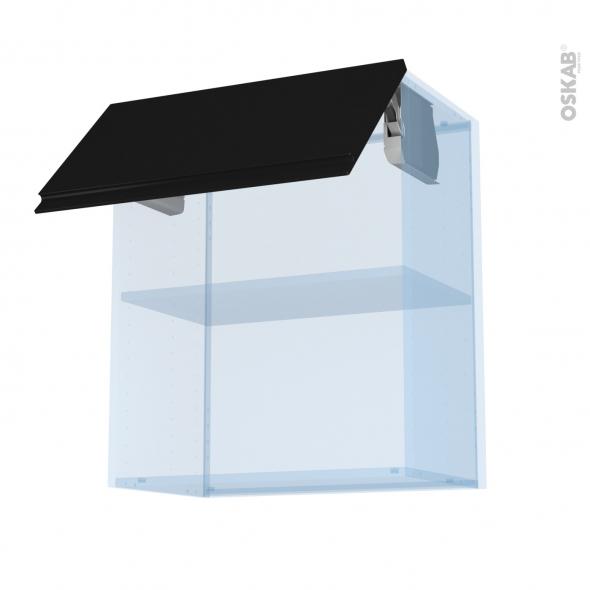 Ipoma Noir mat - Kit Rénovation 18 - Meuble haut MO niche 36/38  - 1 porte - L60xH70xP37,5