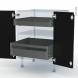 Ipoma Noir mat - Kit Rénovation 18 - Meuble bas - 2 portes - 2 tiroirs à l'anglaise - L60xH70xP60