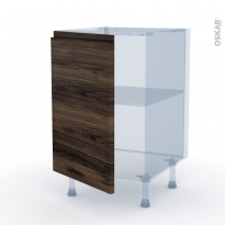 IPOMA Noyer - Kit Rénovation 18 - Meuble bas cuisine  - 1 porte - L50xH70xP60
