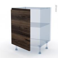 IPOMA Noyer - Kit Rénovation 18 - Meuble bas cuisine  - 1 porte - L60xH70xP60