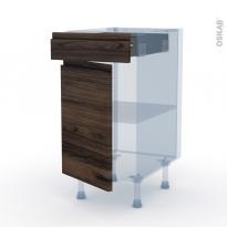 IPOMA Noyer - Kit Rénovation 18 - Meuble bas cuisine  - 1 porte 1 tiroir - L40xH70xP60