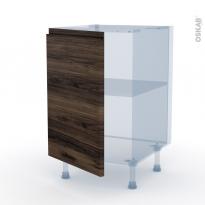 IPOMA Noyer - Kit Rénovation 18 - Meuble sous-évier  - 1 porte - L50xH70xP60