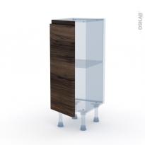 IPOMA Noyer - Kit Rénovation 18 - Meuble bas prof.37  - 1 porte - L30xH70xP37,5