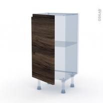 IPOMA Noyer - Kit Rénovation 18 - Meuble bas prof.37  - 1 porte - L40xH70xP37,5