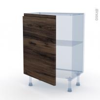 IPOMA Noyer - Kit Rénovation 18 - Meuble bas prof.37  - 1 porte - L60xH70xP37,5