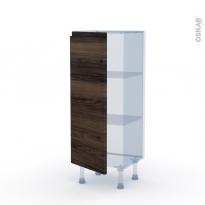 IPOMA Noyer - Kit Rénovation 18 - Meuble bas prof.37  - 1 porte - L40xH92xP37,5