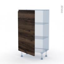 IPOMA Noyer - Kit Rénovation 18 - Meuble bas prof.37  - 1 porte - L60xH92xP37,5