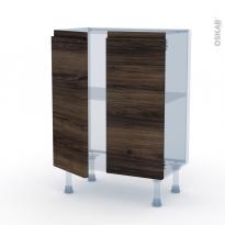 IPOMA Noyer - Kit Rénovation 18 - Meuble bas prof.37 - 2 portes - L60xH70xP37,5