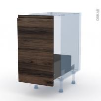 IPOMA Noyer - Kit Rénovation 18 - Meuble sous-évier  - 1 porte coulissante - L40xH70xP60