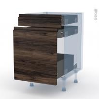 IPOMA Noyer - Kit Rénovation 18 - Meuble range épice - 3 tiroirs - L50xH70xP60