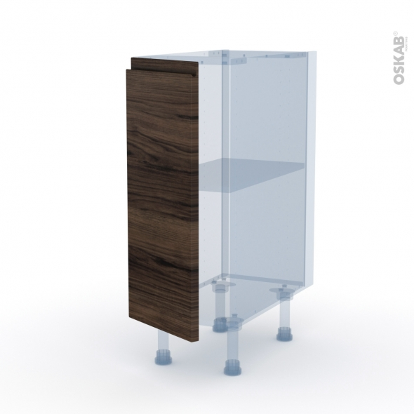 IPOMA Noyer - Kit Rénovation 18 - Meuble bas cuisine  - 1 porte - L30xH70xP60