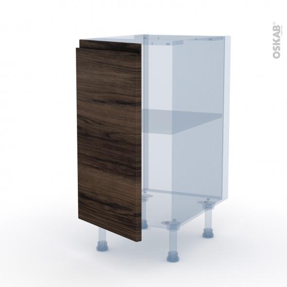 IPOMA Noyer - Kit Rénovation 18 - Meuble bas cuisine  - 1 porte - L40xH70xP60