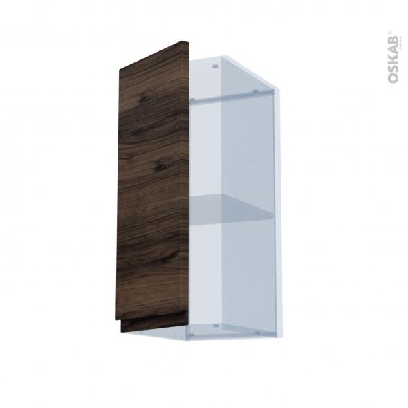 IPOMA Noyer - Kit Rénovation 18 - Meuble haut ouvrant H70  - 1 porte - L30xH70xP37,5