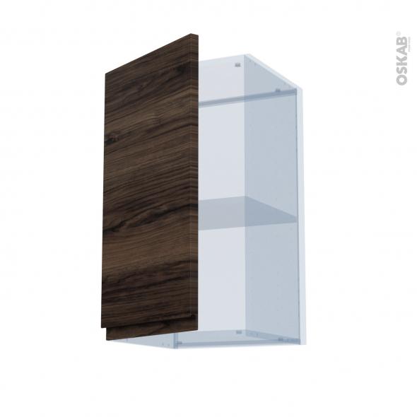 IPOMA Noyer - Kit Rénovation 18 - Meuble haut ouvrant H70  - 1 porte - L40xH70xP37,5